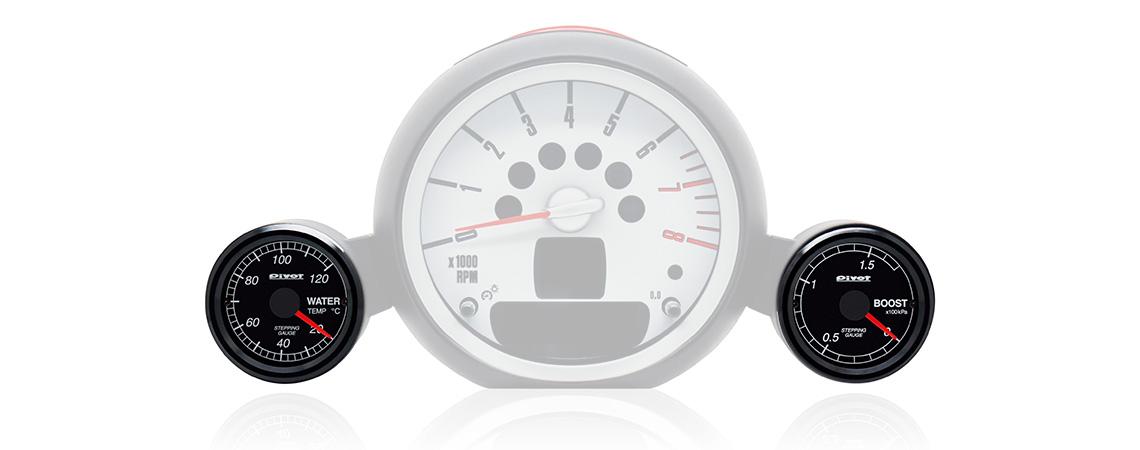 euro car gauge bmw mini用 ポン付けゲージ pivot
